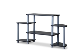 Baxton Studio Orbit TV Stand-Triple Tier Baxton Studio Orbit TV Stand-Triple Tier, Living Room Furniture