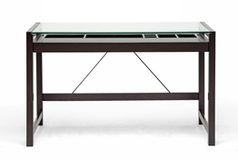 Baxton Studio Idabel Dark Brown Wood Modern Desk with Glass Top Baxton Studio Idabel Dark Brown Wood Modern Desk with Glass Top, IERT207-TBL, compare Baxton Studio Idabel Dark Brown Wood Modern Desk with Glass Top, best price on Baxton Studio Idabel Dark Brown Wood Modern Desk with Glass Top, discount Baxton Studio Idabel Dark Brown Wood Modern Desk with Glass Top, cheap Baxton Studio Idabel Dark Brown Wood Modern Desk with Glass Top