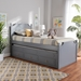 Baxton Studio Mariana Traditional Transitional Grey Finished Wood Twin Size 3-Drawer Storage Bed with Pull-Out Trundle Bed - IEMariana-Grey-3DW-Twin