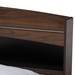 Baxton Studio Christopher Modern and Contemporary Rustic Walnut Brown Finished Wood Queen Size Platform Bed with Shelves - IESEBED13015026-Columbia/Black-Queen