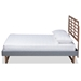 Baxton Studio Rina Modern and Contemporary Dark Grey Fabric Upholstered and Ash Walnut Brown Finished Wood Full Size Platform Bed - IERina-Dark Grey/Ash Walnut-Full