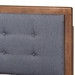 Baxton Studio Emele Modern Transitional Dark Grey Fabric Upholstered and Ash Walnut Brown Finished Wood Queen Size Platform Bed - IEEmele-Dark Grey/Ash Walnut-Queen