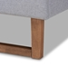 Baxton Studio Luciana Modern and Contemporary Light Grey Fabric Upholstered and Ash Walnut Brown Finished Wood Full Size Platform Bed - IELuciana-Light Grey/Ash Walnut-Full